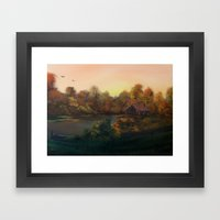 New Day in Autumn (Sold) Framed Art Print