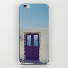 Santorini Door V iPhone & iPod Skin