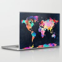 map Laptop & iPad Skins featuring World map by Bekim ART