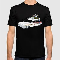 Ecto-1A Mens Fitted Tee Black SMALL