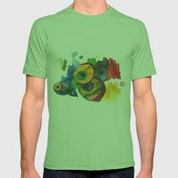 Colorful fish 3 Mens Fitted Tee Grass SMALL