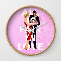 All Is Fair In Love Wall Clock