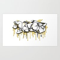 3D GRAFFITI - NYPD Art Print