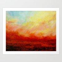 SUNSET FIERY Art Print