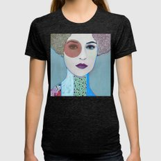 Blue Eyes Womens Fitted Tee Tri-Black SMALL