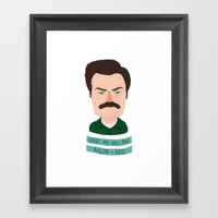 Ron Swanson / Parks And … Framed Art Print