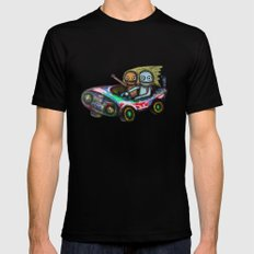 A trip by car SMALL Black Mens Fitted Tee