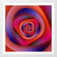 Pschedelic Spiral Art Print