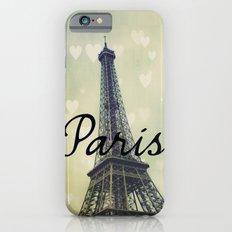 Paris Typography Eiffel Tower  iPhone 6 Slim Case