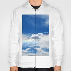 Clouds and rainbow Hoody