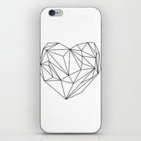 Heart Graphic (black On … iPhone & iPod Skin