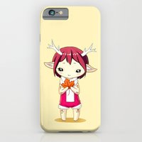 iPhone & iPod Case featuring Deer Girl by Freeminds