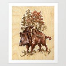 Boar of the Woods Art Print