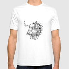Bull Mens Fitted Tee SMALL White
