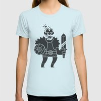 Barbarian Womens Fitted Tee Light Blue SMALL