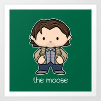 The Moose Art Print