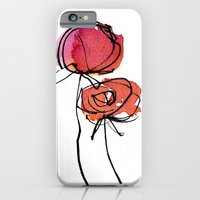 iPhone & iPod Case featuring Red Ranunculus by Reneé Leigh Stephenson
