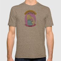 Leslie Knope - Godess Print Mens Fitted Tee Tri-Coffee SMALL