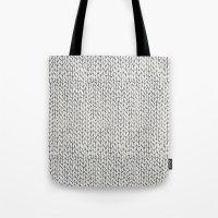 Hand Knit Grey Tote Bag