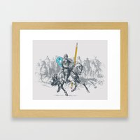 The Mighty Pencil Knight Framed Art Print