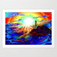On A Mountain Top Art Print