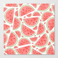 Watercolour Watermelon Canvas Print