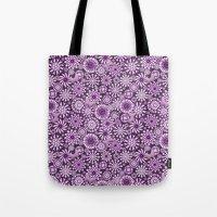 Ceramic Flowers & Butterflies (Acai) Tote Bag