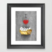 I Heart Skips Framed Art Print