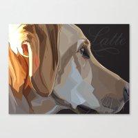 Latte Dog Canvas Print