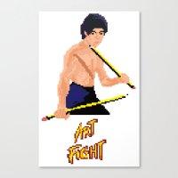 Art Fight Canvas Print