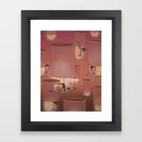 Lights Off, Lift Off Framed Art Print