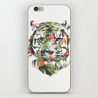 Tropical tiger iPhone & iPod Skin