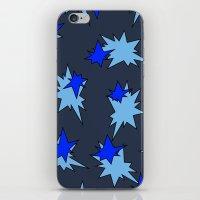 Stars (Navy & Sky on Blue) iPhone & iPod Skin