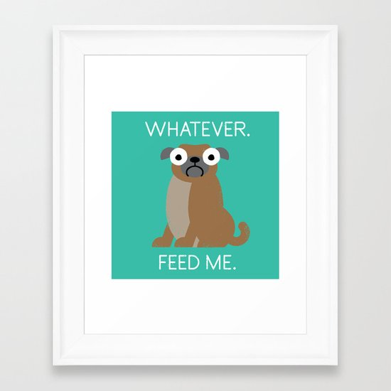 The Pugly Truth Framed Art Print