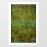 Green burrows ~ Abstract Art Print