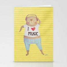 Music Bear Stationery Cards