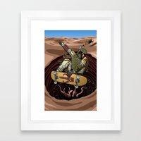 Boba Fett Shreds Framed Art Print