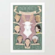 [Dragon Age] Snow White and the Seven Elves Art Print