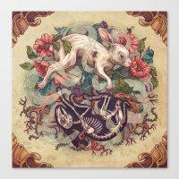 Dust Bunny Canvas Print