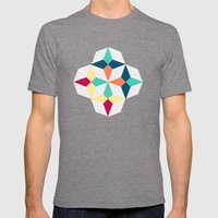 FloralGeometric Mens Fitted Tee Tri-Grey SMALL
