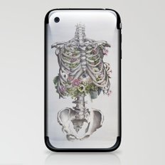 Floral Anatomy Skeleton iPhone & iPod Skin