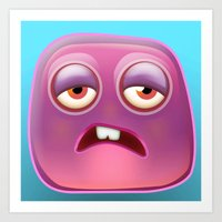 Glutton Jelly Monster  Art Print