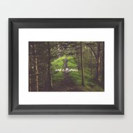 Framed Art Print featuring Love Is Blindness by .eg.