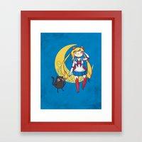 Adventure Moon Framed Art Print