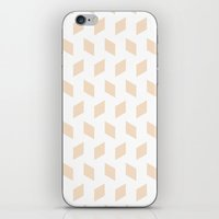 Rhombus Bomb In Linen iPhone & iPod Skin