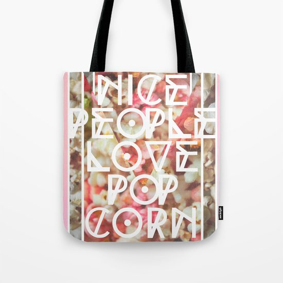 Nice People Love Popcorn Tote Bag