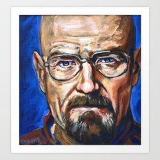 Walter White Breaking Bad Art Print