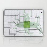 Circuit Board Green Laptop & iPad Skin