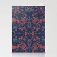 Blue Tile Stationery Cards