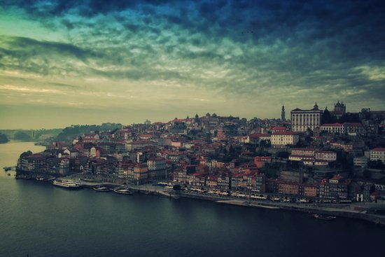 Porto, Portugal. From the top of the bridge. Art Print